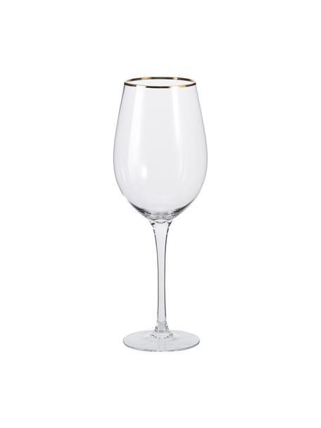 Wijnglazen Chloe, 4 stuks, Glas, Transparant, Ø 9 x H 26 cm