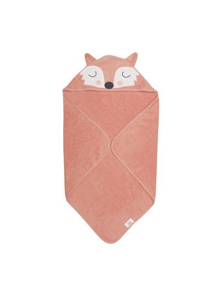 Babyhandtuch Fox Frida aus Bio-Baumwolle, 100% Biobaumwolle, Rosa, Weiss, Schwarz, 80 x 80 cm