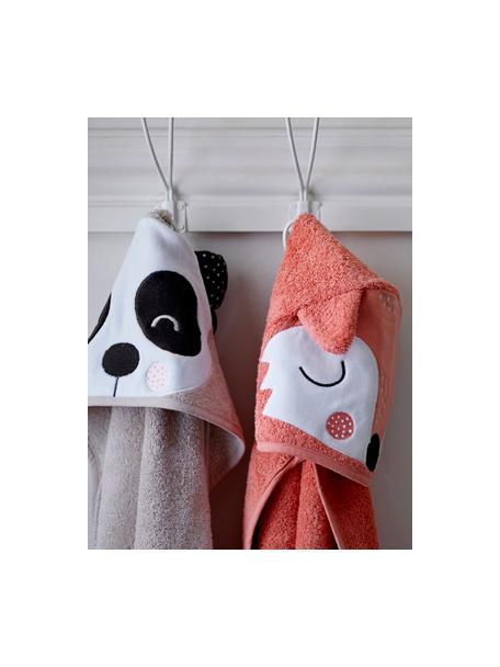 Ręcznik dla dzieci z bawełny organicznej Fox Frida, 100% bawełna organiczna, Blady różowy, biały, czarny, S 80 x D 80 cm