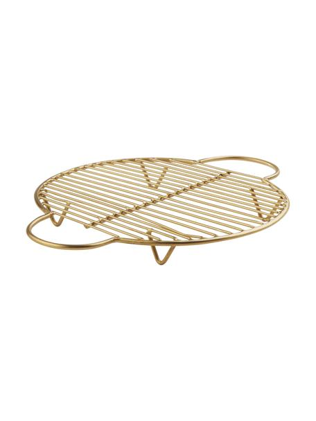 Podstawka pod gorące naczynia Kendra, Metal powlekany, Odcienie złotego, D 25 x S 20 cm