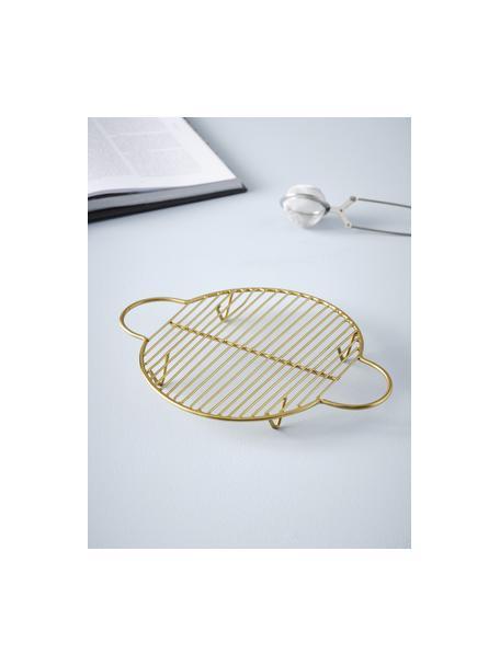 Salvamanteles Kendra, Metal recubierto, Dorado, L 25 x An 20 cm
