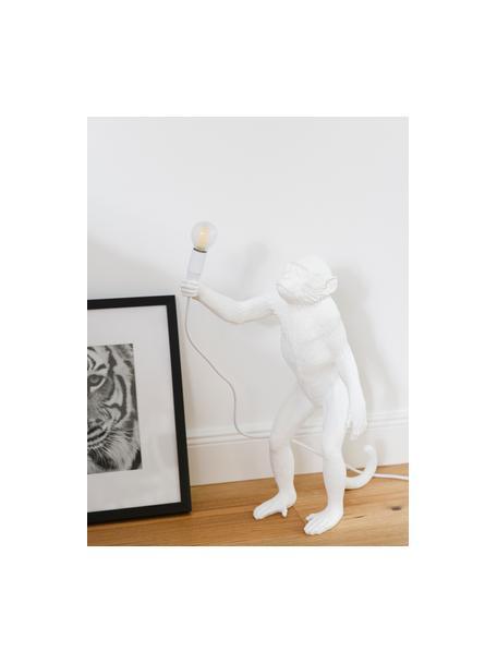 Grote design tafellamp Monkey, Lamp: kunsthars, Wit, 46 x 54 cm