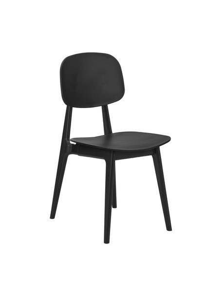 Sedia di design Smilla 2 pz, Seduta: materiale sintetico, Gambe: metallo verniciato a polv, Nero opaco, Larg. 43 x Prof. 49 cm