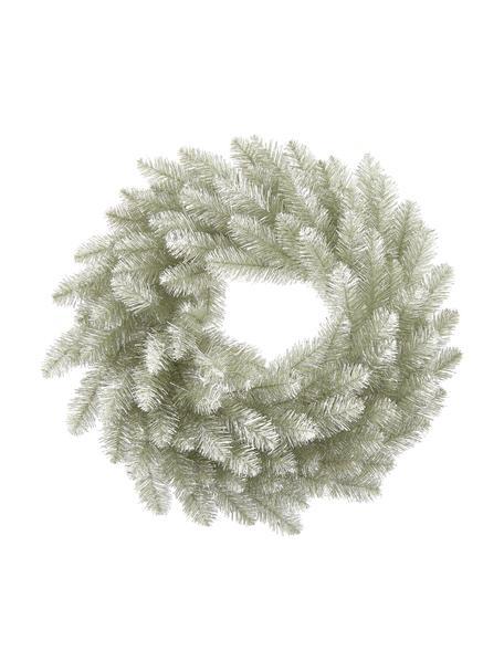 Künstlicher Weihnachtskranz Colchester Ø 60 cm, Kunststoff (PVC), Platinfarben, Ø 60 cm