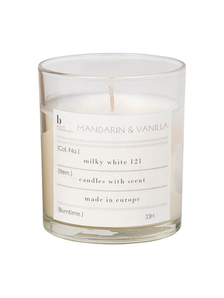 Duftkerze Mandarin (Mandarine & Vanille), Behälter: Glas, Mandarine & Vanille, Ø 7 x H 8 cm