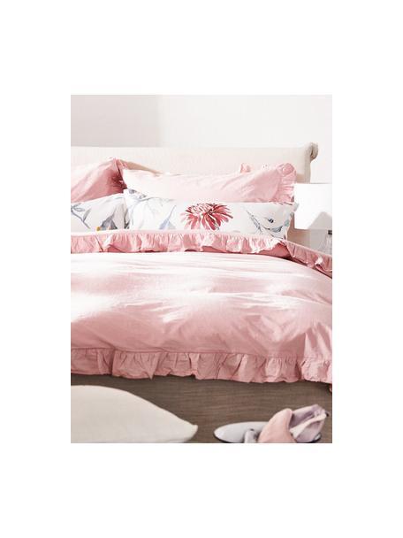 Poszewka na poduszkę z bawełny z efektem sprania Florence, 2 szt., Blady różowy, S 40 x D 80 cm