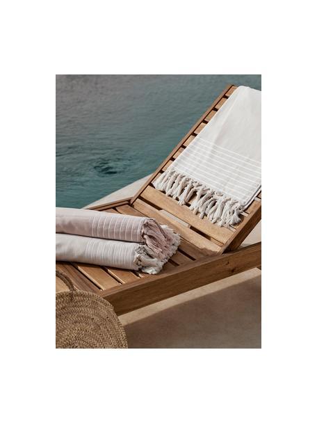 Ręcznik plażowy Freddy, Blady różowy, S 100 x D 180 cm