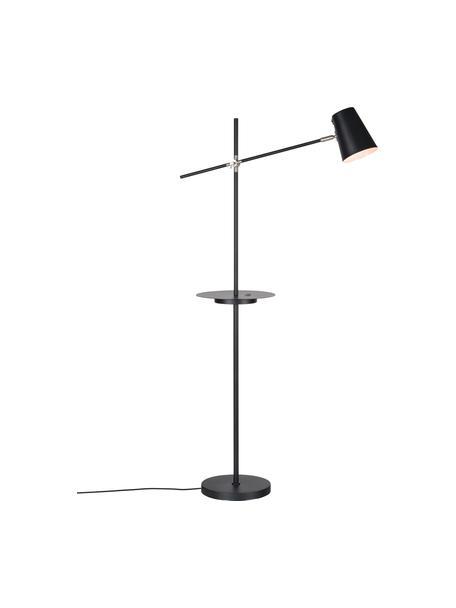 Lampa do czytania ze stacją ładującą Linear, Czarny, G 65 x W 144 cm