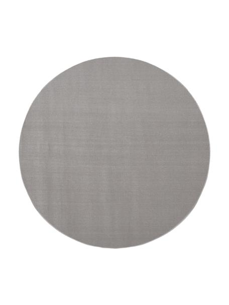Alfombra redonda de lana Ida, Parte superior: lana, Reverso: 60%yute, 40%poliéster L, Gris, Ø 120 cm (Tamaño S)