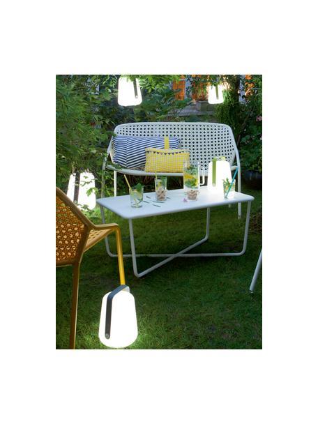 Lampada da tavolo dimmerabile da esterno Balad, Paralume: polietilene altamente tra, Manico: alluminio verniciato, Blu laguna, Ø 19 x Alt. 25 cm