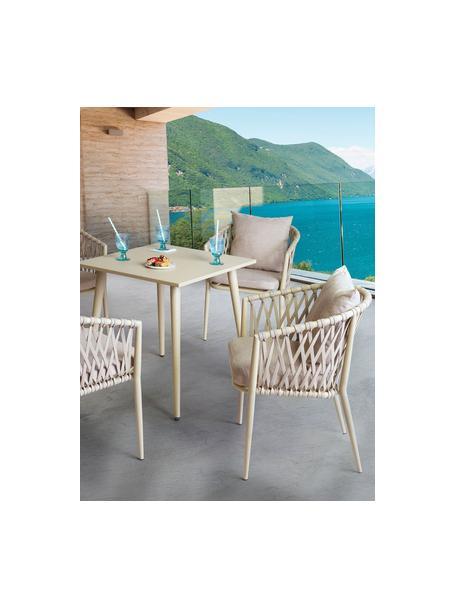 Set tavolo e sedie da giardino Brown 5 pz, Rivestimento: 100% poliestere, Beige, Set in varie misure