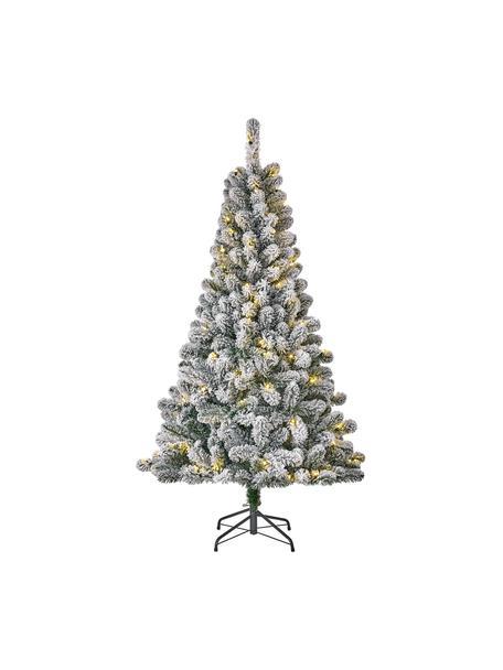 Árbol de Navidad artificial LED Millington, Agujas: plástico (PVC), Verde con nieve, Ø 86 x Al 155 cm