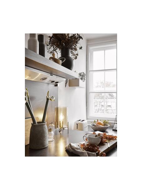 Lámpara de mesa pequeña de vidrio Laurel, Pantalla: vidrio, Cable: plástico, Ámbar, latón, Ø 14 x Al 28 cm