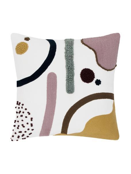 Kussenhoes Wassily met abstracte decoratie, 100% katoen, Voorzijde: multicolour. Achterzijde: wit, 45 x 45 cm
