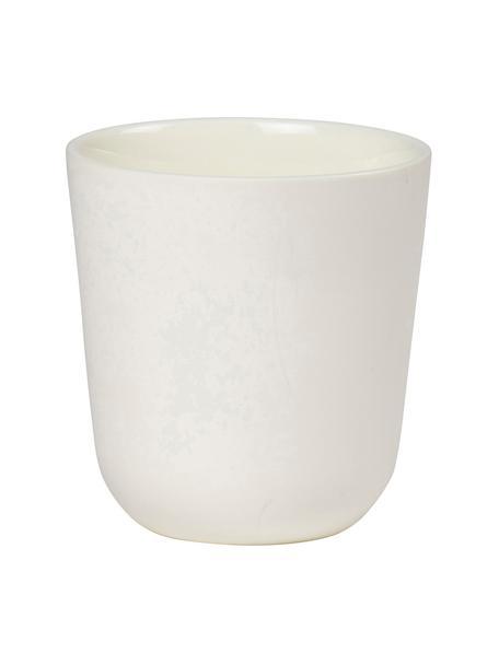 Tazza senza manico Nudge 4 pz, Porcellana, Bianco latteo, Ø 9 x Alt. 10 cm