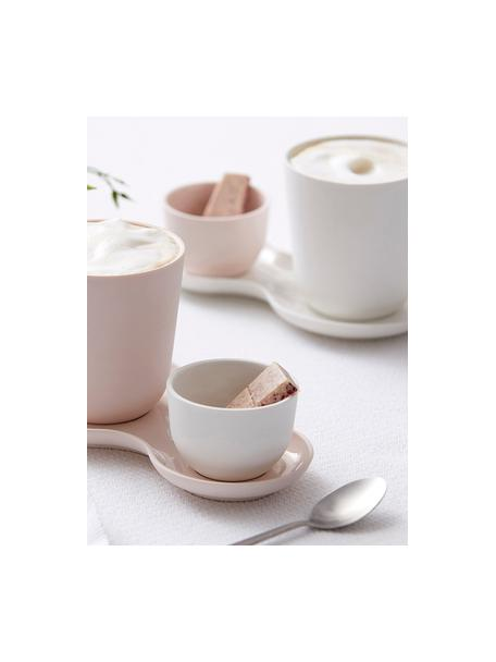Beker Nudge in wit mat/glanzend, 4 stuks, Porselein, Gebroken wit, Ø 9 x H 10 cm