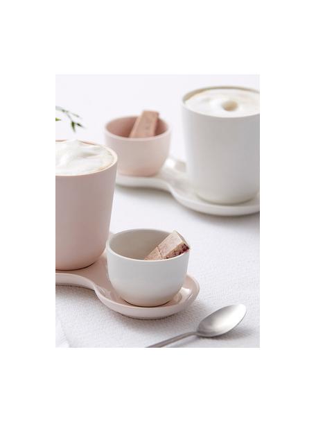 Tazas originales Nudge, 4uds., Porcelana, Blanco crema, Ø 9 x Al 10 cm