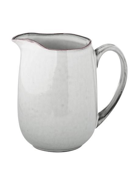 Ręcznie wykonany dzbanek do mleka z kamionki Nordic Sand, 1 l, Kamionka, Piaskowy, S 17 x W 16 cm