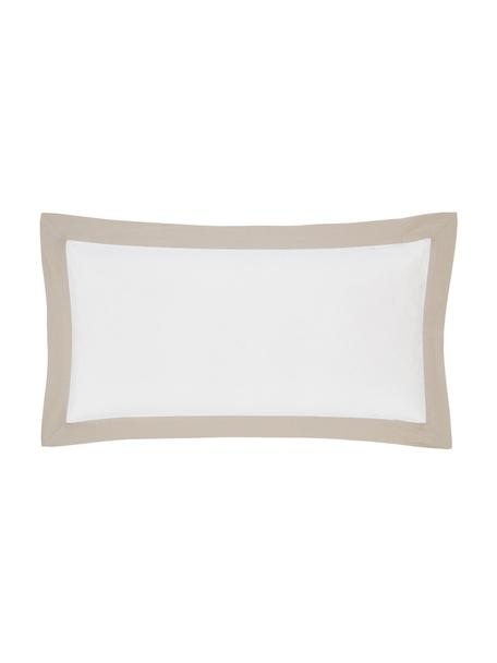 Poszewka na poduszkę z lnu z efektem sprania Eleanore, 2 szt., Biały, beżowy, S 40 x D 80 cm