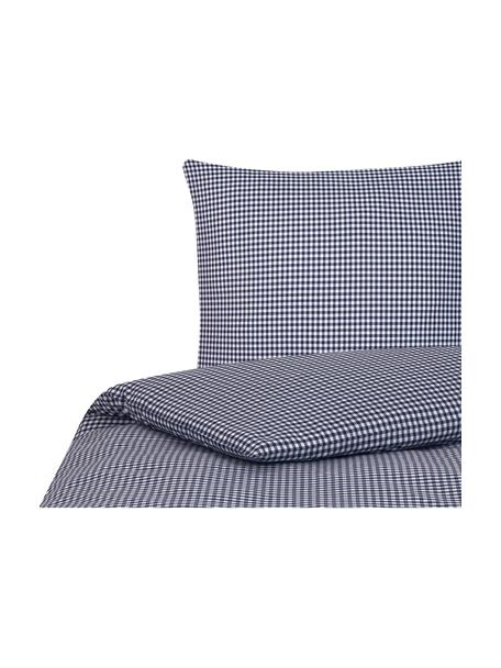 Pościel z bawełny Scotty, Niebieski, biały, 135 x 200 cm + 1 poduszka 80 x 80 cm