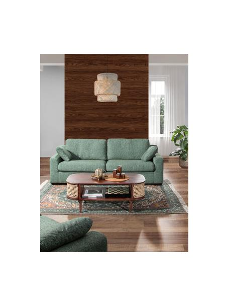 Stolik kawowy z drewna mangowego z plecionką wiedeńską Maracana, Drewno mangowe, Brązowy, S 120 x W 45 cm