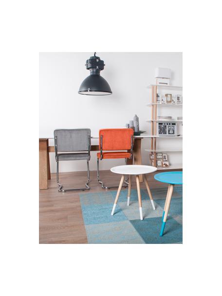 Krzesło podporowe Kink, Tapicerka: sztruks (88% nylon, 12% p, Pomarańczowy, chrom, S 48 x G 48 cm