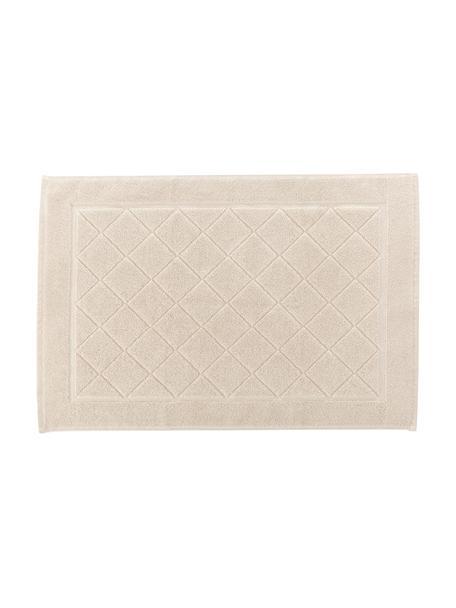 Tappeto bagno in cotone Diamond, 100% cotone, Beige, Larg. 50 x Lung. 70 cm