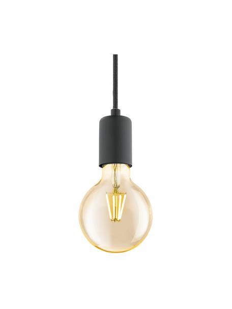 Kleine hanglamp Trey, Baldakijn: gepoedercoat metaal, Fitting: gepoedercoat metaal, Mat zwart, Ø 10  x H 8 cm