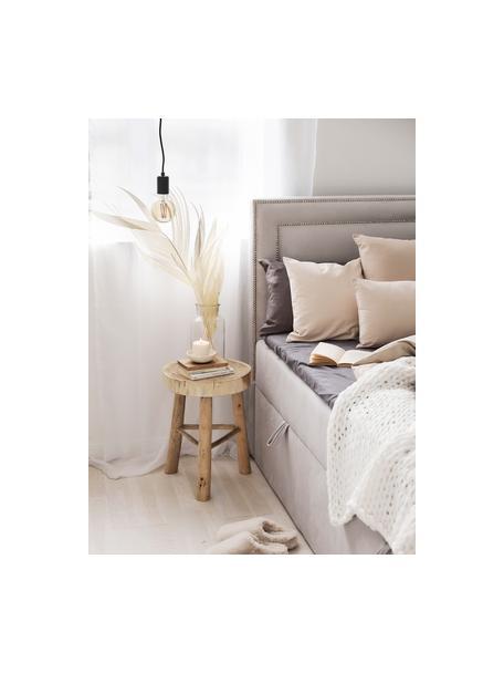 Lámpara de techo pequeña Trey, Anclaje: metal con pintura en polv, Cable: cubierto en tela, Negro mate, Ø 10 x Al 8 cm