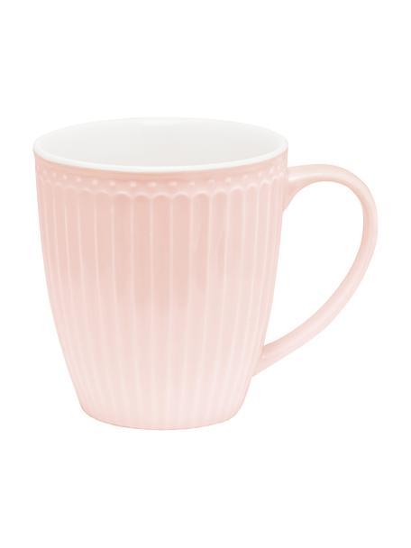 Ręcznie wykonany kubek Alice, 2 szt., Kamionka, Blady różowy, Ø 10 x W 10 cm