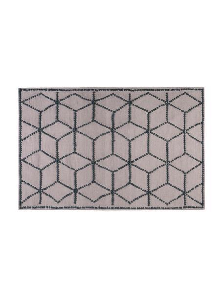 Tappeto in lana tessuto a mano Diamantes, Taupe, grigio, Lung. 230 x Larg. 160 cm