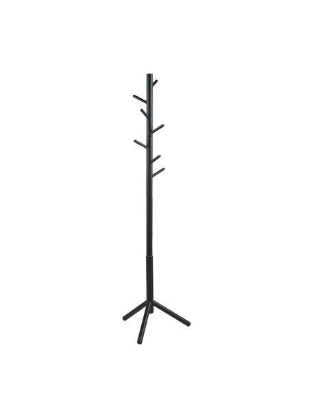 Perchero de madera Bremen, 6ganchos, Madera de caucho pintada, Negro, An 51 x Al 176 cm