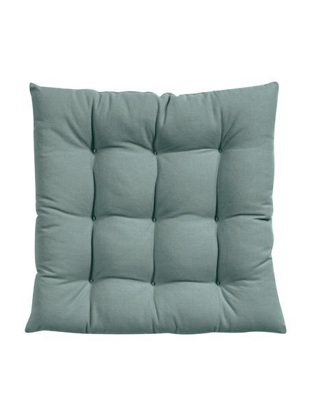 Cuscino sedia verde salvia Ava, Rivestimento: 100% cotone, Verde, Larg. 40 x Lung. 40 cm