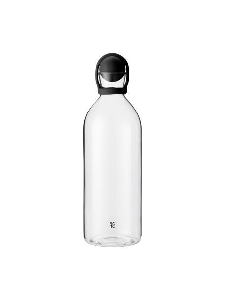 Wasserkaraffe Cool-It mit Verschluss, 1.5 L, Verschluss: Gummi, Schwarz,Transparent, H 31 cm