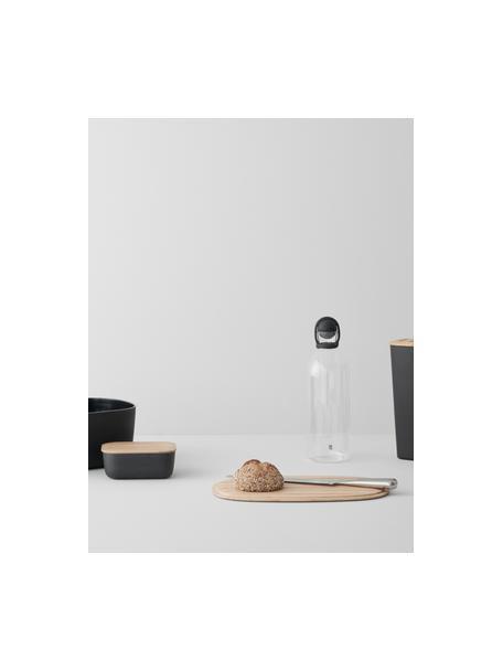 Botella con tapón Cool-It, 1,5L, Botella: vidrio, Negro, transparente, Al 31 cm