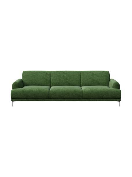 Sofa z Zero Spot System Puzo (3-osobowa), Tapicerka: 100% poliester z Zero Spo, Nogi: metal lakierowany, Ciemnozielony, S 240 x G 84 cm