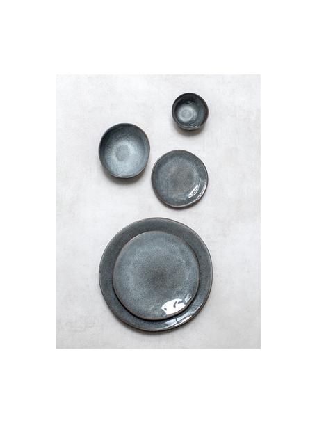 Ontbijtborden Pauline, 2 stuks, Keramiek, Donkergrijs, Ø 21 cm