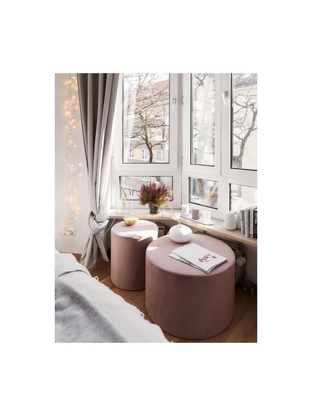 Fluwelen poef Daisy, Bekleding: fluweel (polyester), Frame: multiplex, Fluweel roze, Ø 54 x H 38 cm