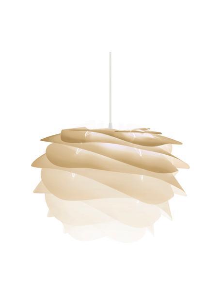 Hanglamp Carmina Mini, bouwpakket, Lampenkap: polycarbonaat, polypropyl, Baldakijn: polypropyleen, Beige, Ø 32 x H 22 cm
