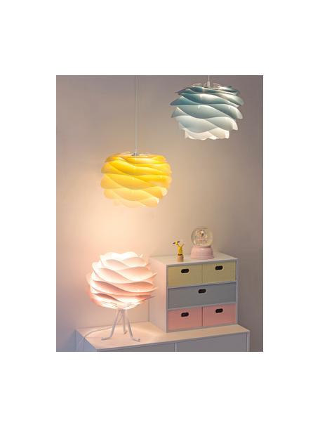 Lámpara de techo Carmina Mini, kit de montaje, Pantalla: policarbonato, polipropil, Anclaje: polipropileno, Cable: cubierto en tela, Beige, Ø 32 x Al 22 cm