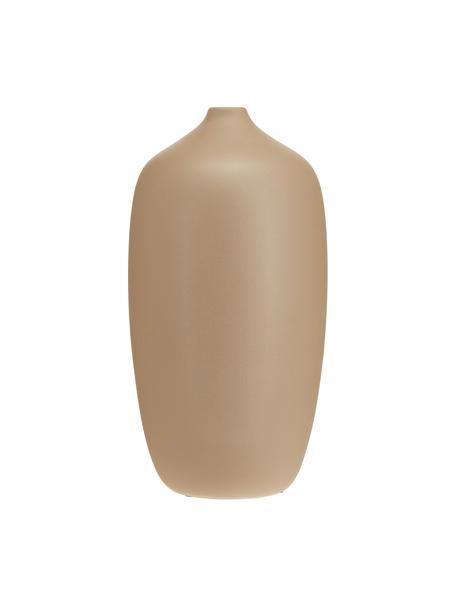 Große Keramik-Vase Ceola in Beige, Keramik, Beige, Ø 13 x H 25 cm