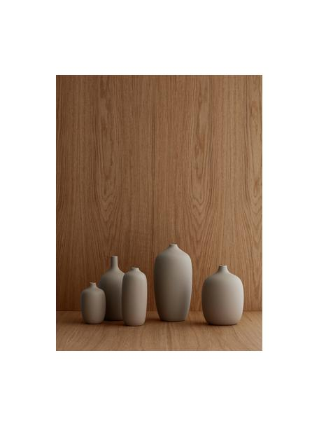 Jarrón grande de cerámica Ceola, Cerámica, Beige, Ø 13 x Al 25 cm