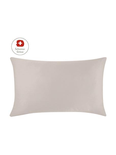Baumwollsatin-Kissenbezug Comfort in Taupe, 65 x 100 cm, Webart: Satin, leicht glänzend Fa, Taupe, 65 x 100 cm
