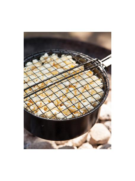 Popcorn-Pfanne Party, Metall, beschichtet, Schwarz, 18 x 9 cm