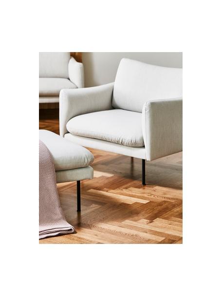 Sillón Moby, Tapizado: poliéster Alta resistenci, Estructura: madera de pino maciza, Patas: metal con pintura en polv, Tejido beige, An 90 x F 90 cm