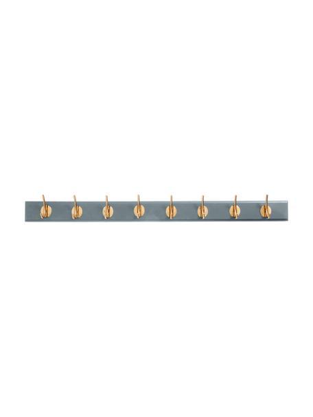 Wieszak ścienny z hakami z metalu XL Aoife, Szary, S 90 x W 7 cm