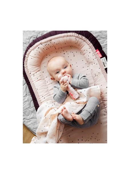 Babynest Dreamy Dots, Bezug: 100% Baumwolle, Oeko-Tex-, Matratze: 100% PU-Schaumstoff, Rosa, 50 x 93 cm