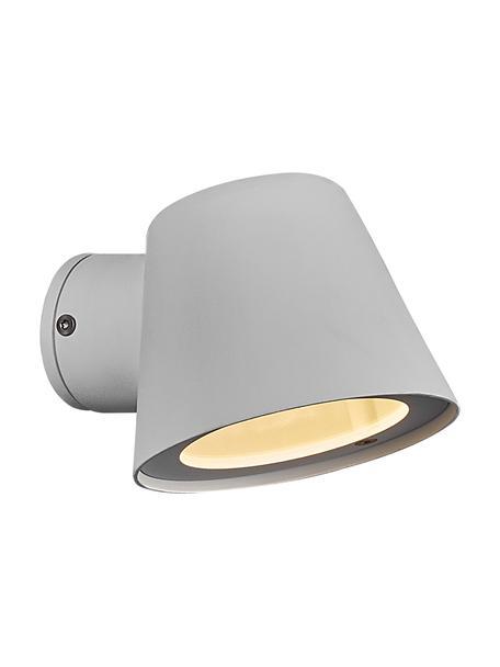 Outdoor wandlamp Aleria in wit, Lampenkap: gecoat metaal, Gebroken wit, 12 x 11 cm