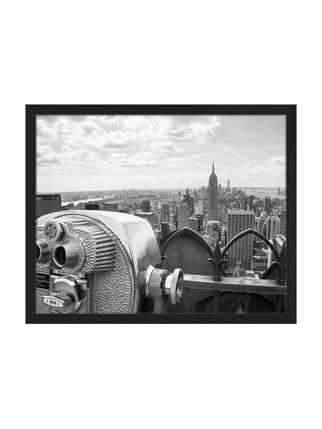 Stampa digitale incorniciata View Of Midtown Manhattan New York City, Immagine: stampa digitale su carta,, Cornice: legno verniciato, Nero, bianco, Larg. 53 x Alt. 43 cm