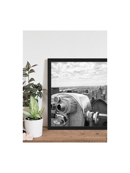 Ingelijste digitale print View Of Midtown Manhattan New York City, Afbeelding: digitale print op papier,, Lijst: gelakt hout, Zwart, wit, 53 x 43 cm